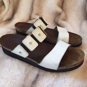 NAOT Ashley White Sandals